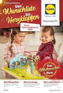 Spielwaren im Lidl Prospekt Von Wunschliste bis Herzklopfen auf S. 0
