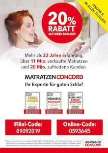 Matratzen Concord - 20% Rabatt