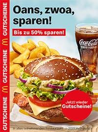 Aktueller McDonald's Prospekt, Oans, zwoa, sparen!, Seite 1