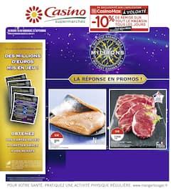 Catalogue Casino Supermarchés en cours, La réponse en promos !, Page 1