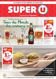 Catalogue Super U en cours, Partez pour un tour du monde des saveurs, Page 1