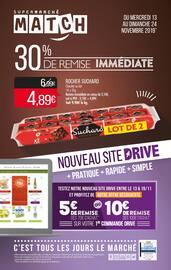 Catalogue Supermarchés Match en cours, 30% de remise immédiate, Page 1
