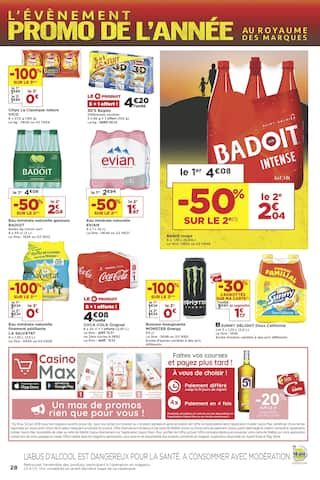 Catalogue Casino Supermarchés en cours, L'évènement promo de l'année - Épisode 3, Page 28