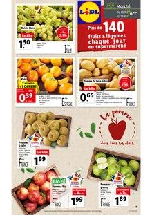 """Lidl Catalogue """"Plus de 140 fruits & légumes chaque jour en supermarché"""", 1 page, Passy,  26/10/2021 - 02/03/2030"""
