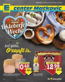 Aktueller E center Prospekt, Oktoberfest Woche: Auf geht's, O'zapft is., Seite 1