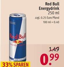 Red Bull von Red Bull im aktuellen Rossmann Prospekt für 0.99€