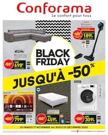 Catalogue Conforama en cours, Black Friday : jusqu'à -50%, Page 1