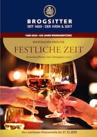 Aktueller Brogsitter Vinothek Grafschaft Prospekt, Festliche Zeit, Seite 1