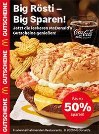 Aktueller McDonald's Prospekt, Big Rösti - Big Sparen!, Seite 1