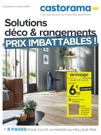 Catalogue Castorama en cours, Solutions déco & rangements, prix imbattables !, Page 1