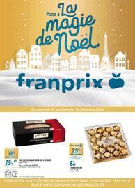 Catalogue Franprix en cours, Place à la magie de Noël, Page 1
