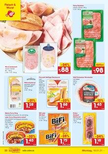Wurst im Netto Marken-Discount Prospekt EINER FÜR ALLES. ALLES FÜR GÜNSTIG. auf S. 19