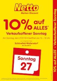Netto Marken-Discount, Verkaufsoffener Sonntag - 10% auf alles für Blankenfelde-Mahlow