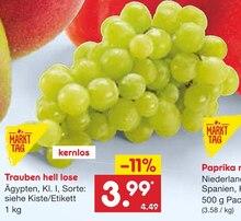 Weintrauben im aktuellen Netto Marken-Discount Prospekt für 3.99€