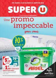 Catalogue Super U en cours, Une promo impeccable pour vous, Page 1