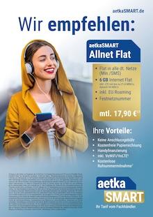 aetka, WIR EMPFEHLEN: AETKASMART ALLNET FLAT für Dresden