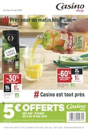 Catalogue Casino Shop en cours, # prêts pour un matin bio ?, Page 1