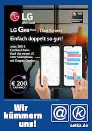 Aktueller aetka Prospekt, Wir kümmern uns! LG GBX Cashback, Seite 1