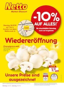 Netto Marken-Discount, WIEDERERÖFFNUNG - 10% AUF ALLES für Frankfurt (Main)