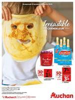 Catalogue Auchan en cours, Irrésistible Chandeleur, Page 1