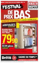 Catalogue Brico Dépôt en cours, Festival de prix bas, Page 1