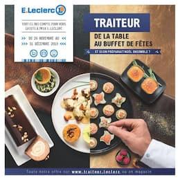 Catalogue E.Leclerc en cours, Traiteur, de la table au buffet de fêtes, Page 1