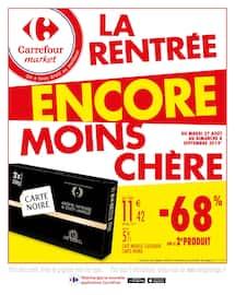 Catalogue Carrefour Market en cours, La rentrée encore moins chère , Page 1