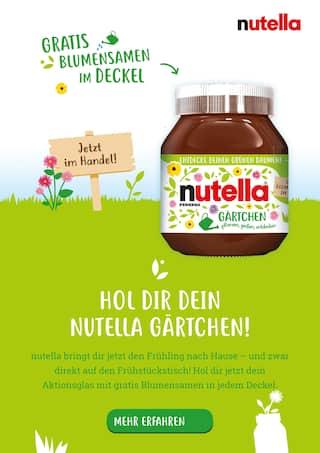 Aktueller Nutella Prospekt, Hol dir dein Nutella Gärtchen!, Seite 1
