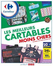 Catalogue Carrefour en cours, Les meilleurs cartables moins chers, Page 1