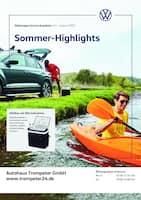 Aktueller Volkswagen Prospekt, Sommer-Highlights, Seite 1