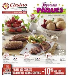 Catalogue Casino Supermarchés en cours, Joyeuses Pâques, Page 1