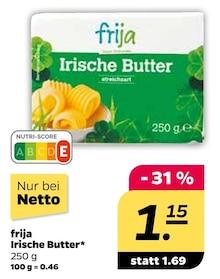 Butter von frija im aktuellen NETTO mit dem Scottie Prospekt für 1.15€