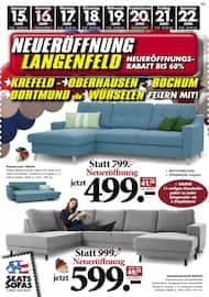 Aktueller Seats and Sofas Prospekt, Neueröffnung Langenfeld, Seite 1