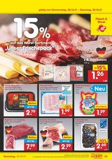 Wurst im Netto Marken-Discount Prospekt DER ORT, AN DEM DU SEKT IN BIO-QUALITÄT BEKOMMST. auf S. 34