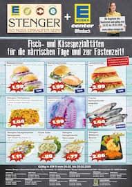 Aktueller Edeka Stenger Prospekt, Fisch - und Käsespezialitäten für die närrischen Tage und zur Fastenzeit!, Seite 1