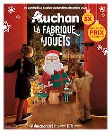 """Auchan Catalogue """"La fabrique à jouets"""", 120 pages, Strasbourg,  14/10/2021 - 06/12/2021"""
