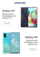 Catalogue Bon plan en cours, Galaxy A71 & A51, Page 1