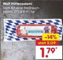 Wurst von Wolf im aktuellen Netto Marken-Discount Prospekt für 1.79€