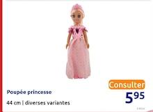Poupée princesse à Action dans Villars-en-Pons