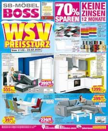Aktueller SB Möbel Boss Prospekt, WSV Preissturz , Seite 1