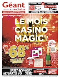 Catalogue Géant Casino en cours, Le mois Casino Magic !!, Page 1
