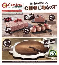 Catalogue Casino Supermarchés en cours, Les semaines du chocolat, Page 1