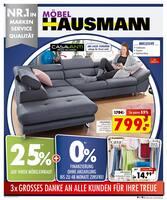 Aktueller Möbel Hausmann Prospekt, Grosses Danke!, Seite 1