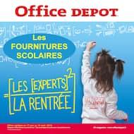 Catalogue Office DEPOT en cours, Les fournitures scolaires ! Office Dépôt, l'expert de la rentrée ! Et profitez du service de préparation de liste scolaire en magasin gratuitement. , Page 1