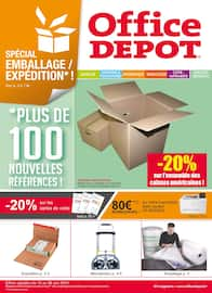 Catalogue Office DEPOT en cours, Spécial emballages et expéditions ! -20% sur les caisses américaines et pleins d'autres offres ! , Page 1