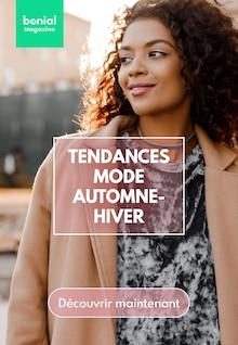 """Bonial Magazine Catalogue """"Tendances Mode Automne-Hiver"""", 1 page, Sainte-Marie,  14/10/2021 - 31/12/2021"""