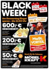 Aktueller Möbel Kraft Prospekt, BLACK WEEK!, Seite 1
