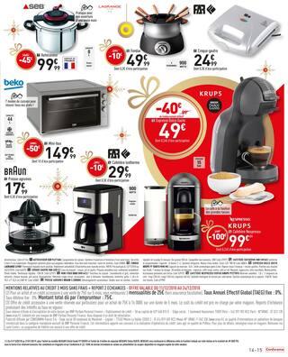 Catalogue Conforama en cours, Noël est plus Beau à petits prix, Page 15