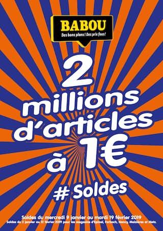 Catalogue Babou en cours, 2 millions d'articles à 1€ , Page 1