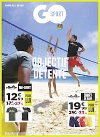 Catalogue Go Sport en cours, Objectif détente, Page 1
